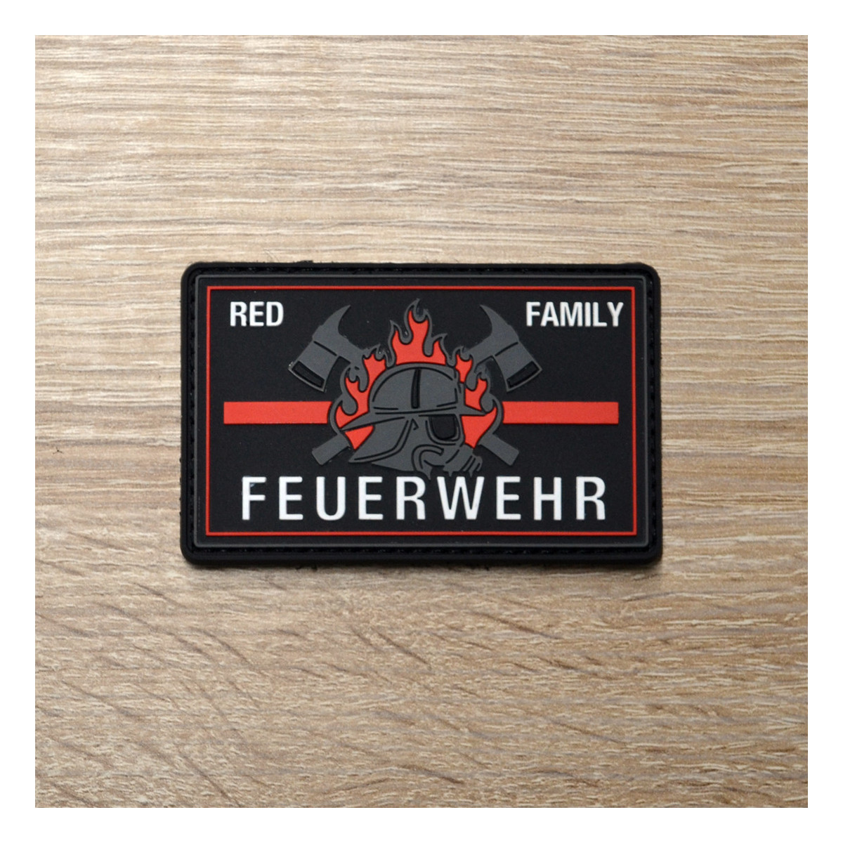 3D Patch | Feuerwehr red line family