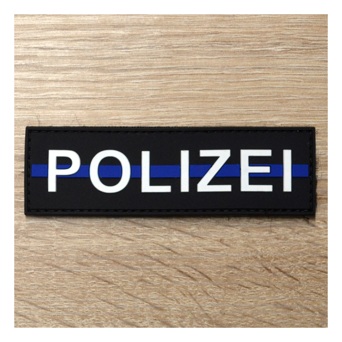 3D Patch | Polizei blue line