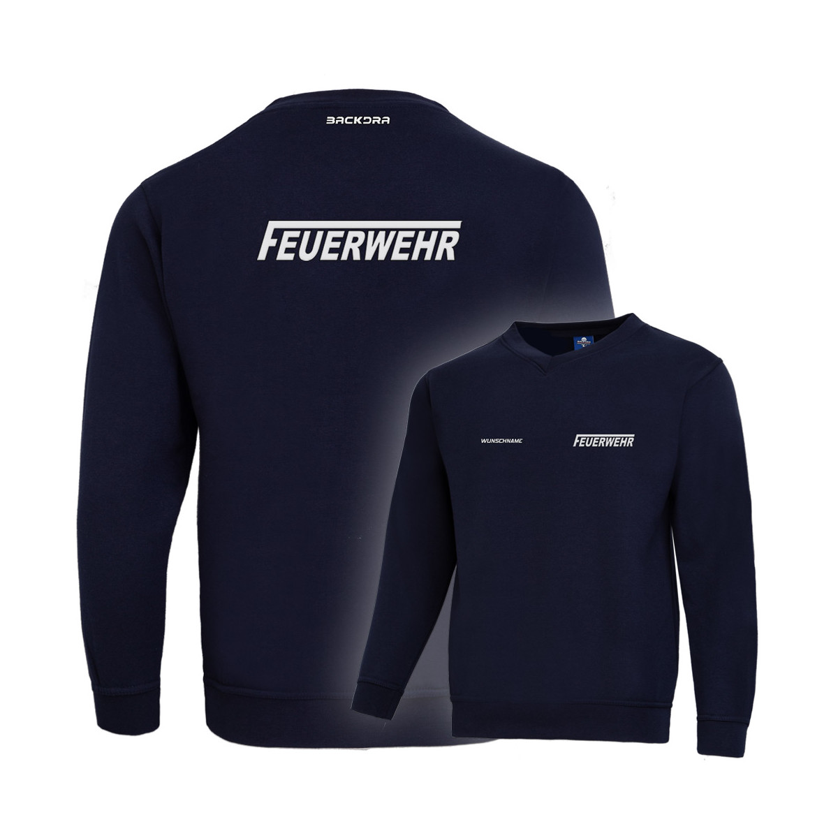 "Pullover V-Neck | Feuerwehr ""fit for work"""