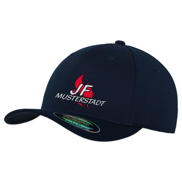 Flexfit Basecap | Jugendfeuerwehr JF Flamme mit Ortsname